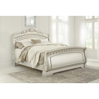 Cassimore - Pearl Silver - King Sleigh Bed