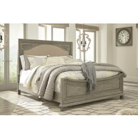 Marleny - Gray/Whitewash - Queen Panel Bed