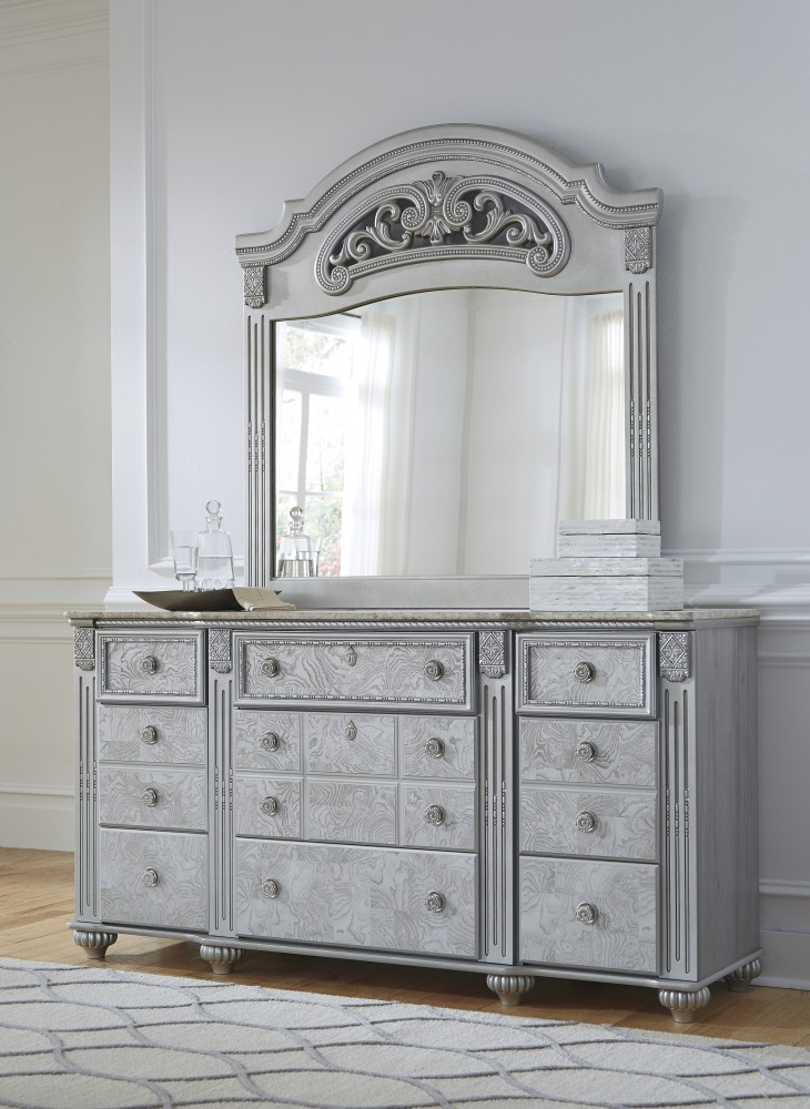 bedroom dresser with mirror zolena silver dresser amp mirror b357 31 36 bedroom 14275