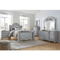 Zolena - Silver - Queen Poster Bed