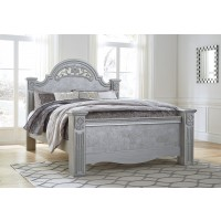 Zolena - Silver - King Poster Bed