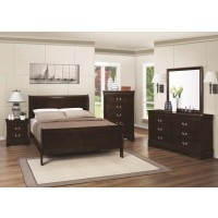 LOUIS PHILIPPE COLLECTION - Louis Philippe Traditional Cappuccino Eastern King Headboard