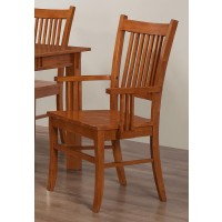MARBRISA COLLECTION - Marbrisa Mission Dining Arm Chair (Pack of 2)