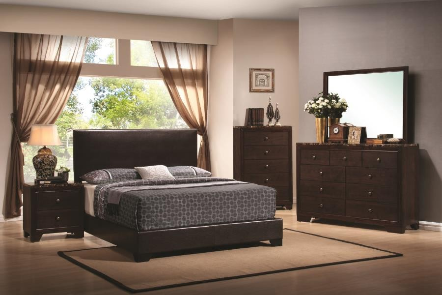 CONNER COLLECTION - Conner Casual Dark Brown Queen Bed