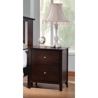 TIA COLLECTION - Tia Cappuccino Two-Drawer Nightstand