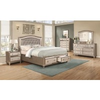 BLING GAME COLLECTION - Bling Game Metallic California King Bed
