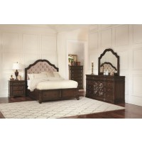 Ilana Traditional Antique Java Eastern King Bed