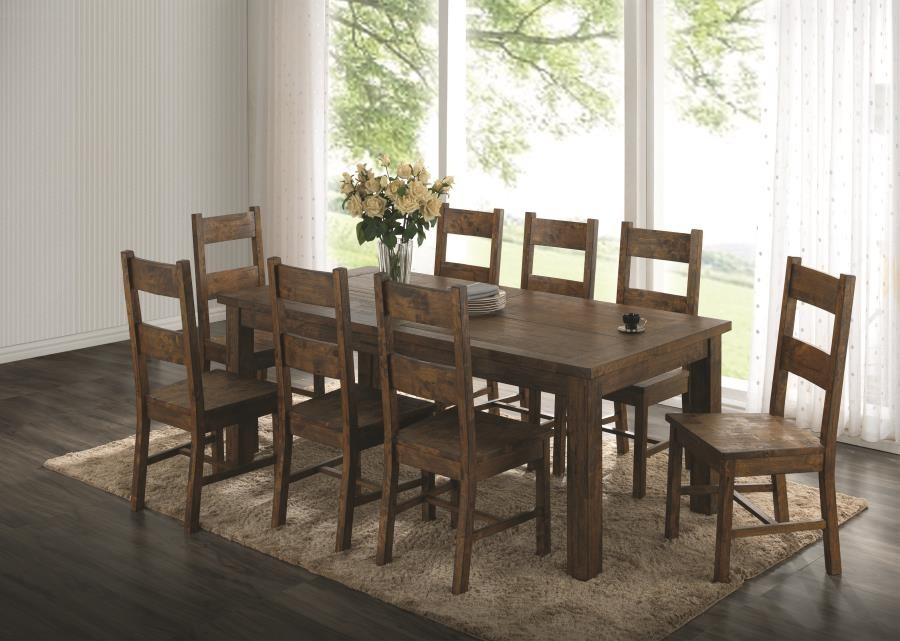 Coleman Golden Brown Five Piece Dining Set 107041 S5 Dining Room