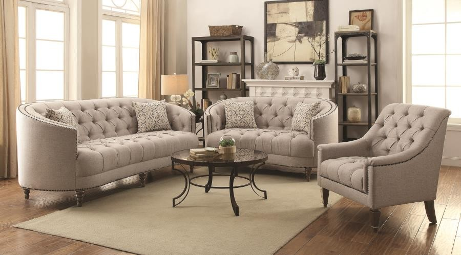 Avonlea beige two piece living room set 505641 s2 - Living room sets for cheap prices ...