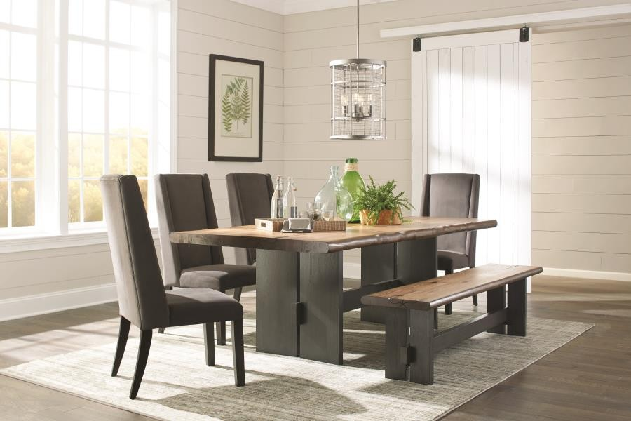 Outstanding Marquette Rustic Mahogany Dining Table Download Free Architecture Designs Scobabritishbridgeorg