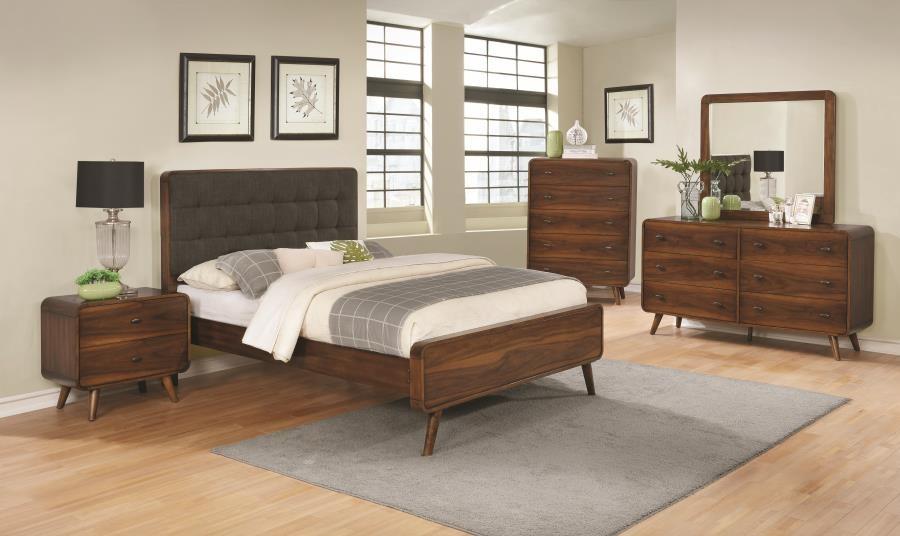 ROBYN   Robyn Mid Century Modern Dark Walnut California King Bed