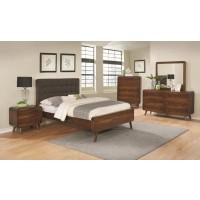 ROBYN - Robyn Mid-Century Modern Dark Walnut California King Bed