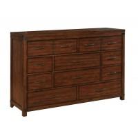 ARTESIA COLLECTION -  Artesia Dark Cocoa Ten-Drawer Dresser