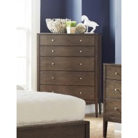 LOMPOC COLLECTION - Lompoc Mid-Century Modern Cappuccino Chest