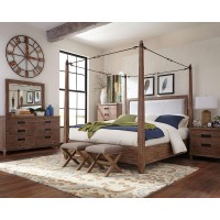 Madeleine Rustic Smoky Acacia Eastern King Four-Piece Set