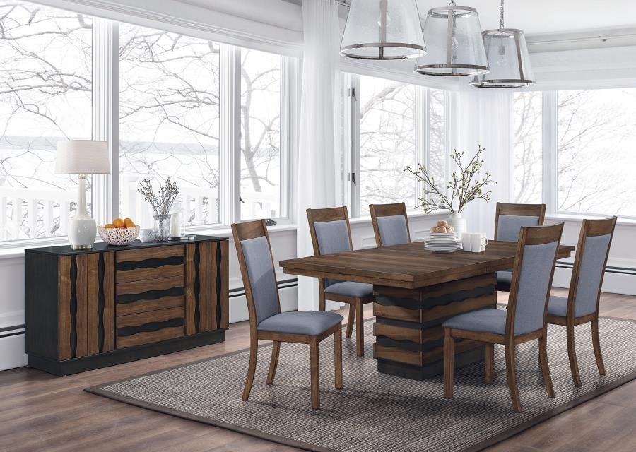Octavia Rustic Seven Piece Dining Set