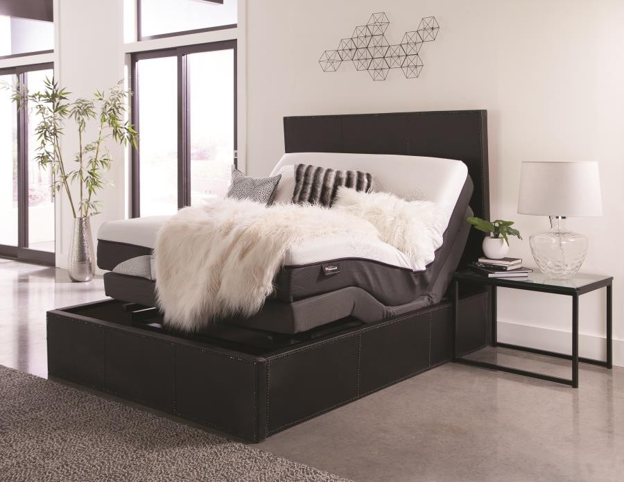 innovative design 407e5 f6cdf Montclair Casual Black Queen Adjustable Bed Base
