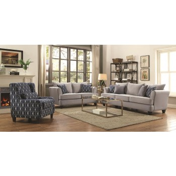 Hallstatt Casual Grey Two-Piece Living Room Set