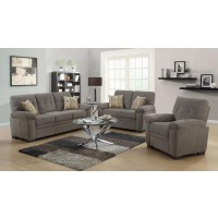 Fairbairn Casual Brown Three-Piece Living Room Set