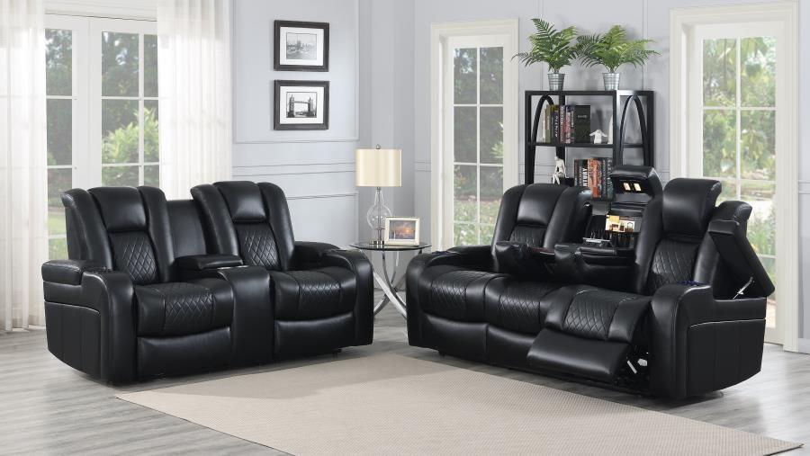 DELANGELO MOTION COLLECTION - Delangelo Black Power Motion Two-Piece Living Room Set