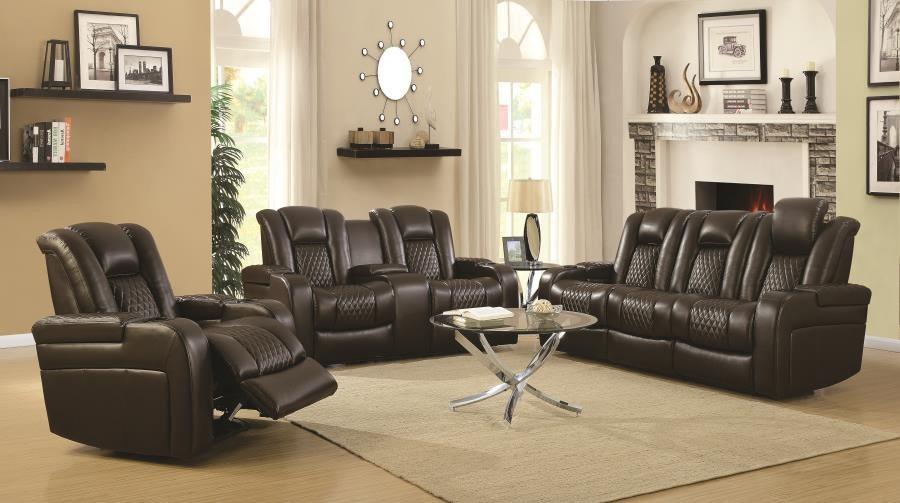 DELANGELO MOTION COLLECTION - Delangelo Brown Power Motion Two-Piece Living Room Set