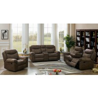 SAWYER MOTION COLLECTION - Sawyer Transitional Light Brown Three-Piece Living Room Set
