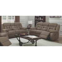 HIGGINS MOTION COLLECTION - Houston Casual Tan Reclining Two-Piece Living Room Set