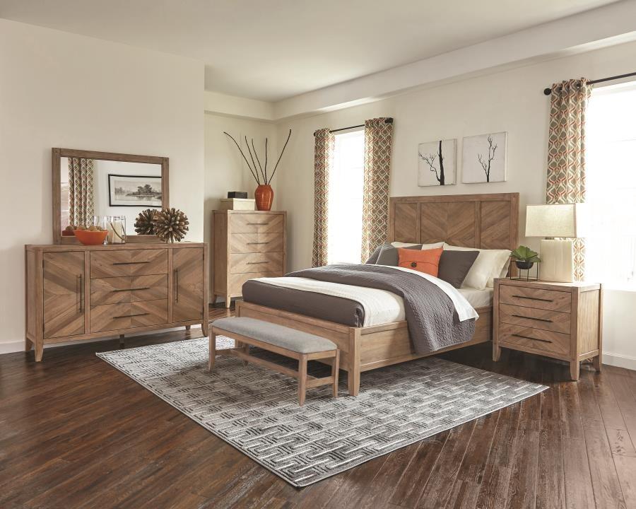 Auburn Rustic Queen Four Piece Set 204611q S4 Bedroom Sets