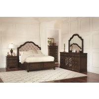 Ilana Traditional Antique Java Queen Four-Piece Set