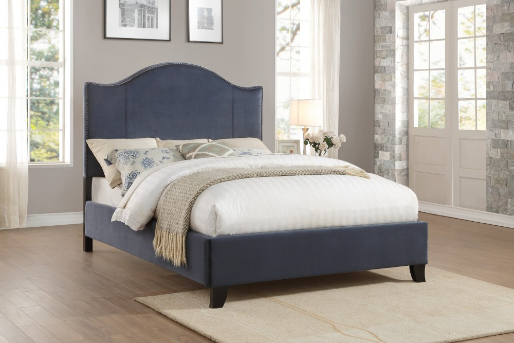 Navy Queen Bed