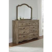 Shellington - Caramel - Dresser & Mirror