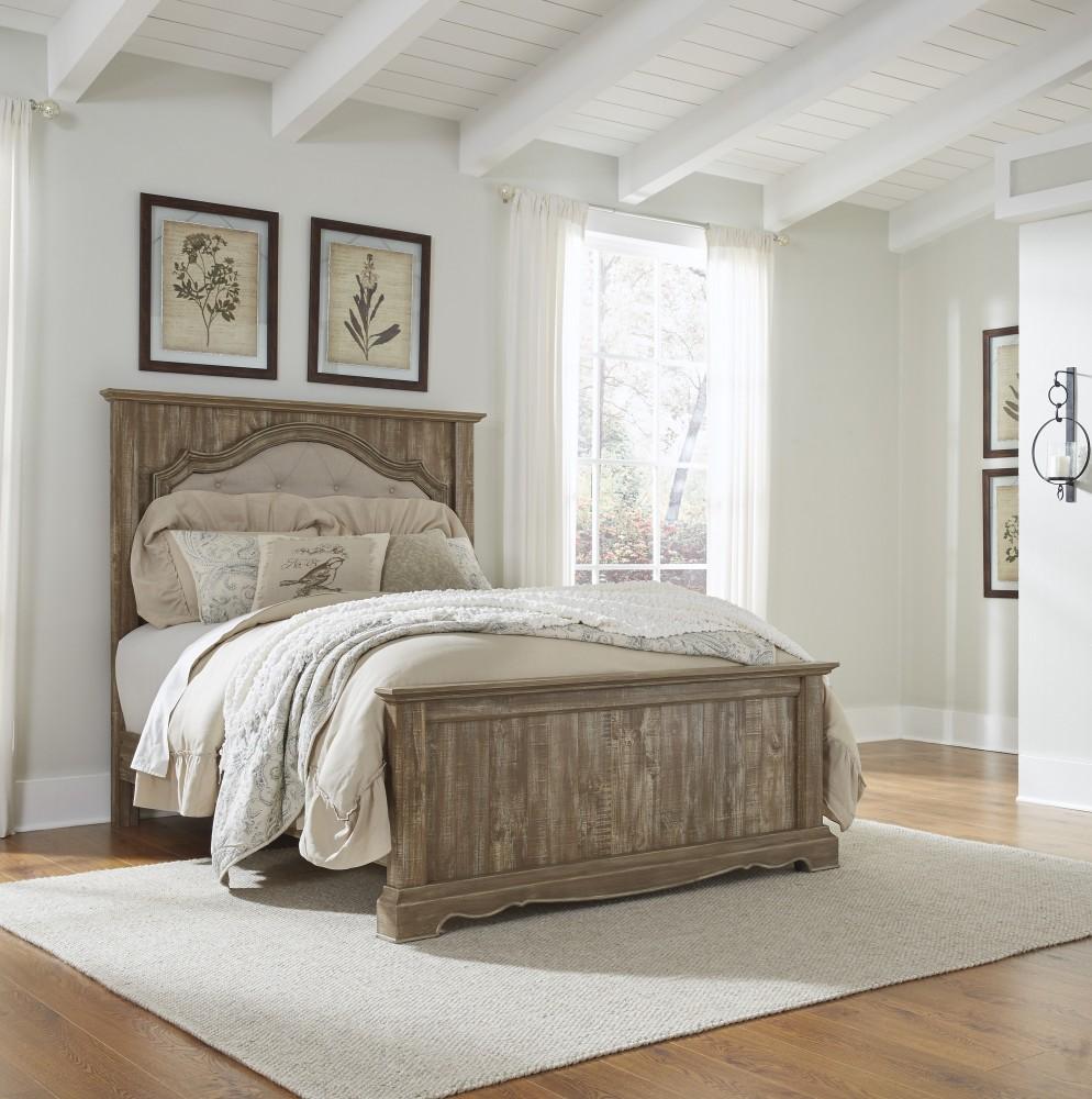 Shellington - Caramel - Queen Panel Bed