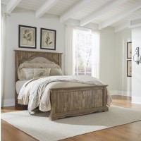 Shellington - Caramel - Queen Panel Bed