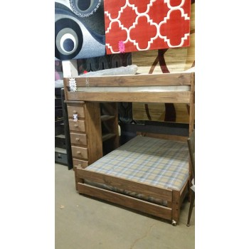 Twin- Full Loft Bed with Chest & Shelf