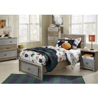 McKeeth - Gray - Twin Panel Bed