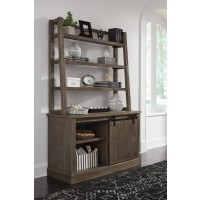 Luxenford - Grayish Brown - Large Credenza & Hutch