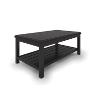 Castle Island - Dark Brown - Rectangular Cocktail Table