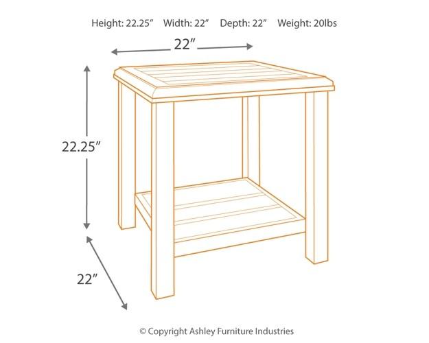 size 40 ad351 79e9d Castle Island - Dark Brown - Square End Table