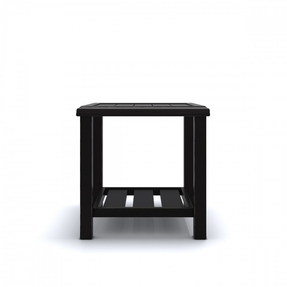 Castle Island   Dark Brown   Square End Table