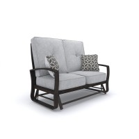 Castle Island - Dark Brown - Loveseat Glider w/Cushion