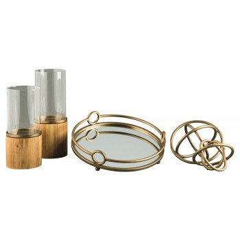 Deserae - Antique Gold Finish - Accessory Set (5/CN)