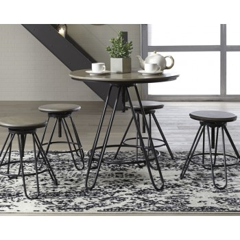 Sonilyn - Gray/Black - DRM Counter Table Set (5/CN)