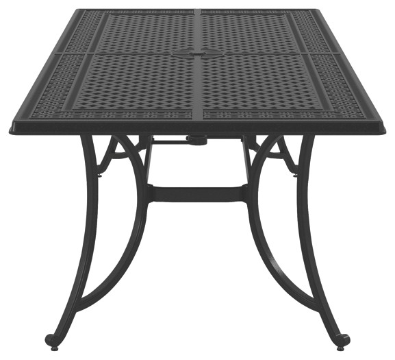 burnella brown rectangular dining table p456 645 outdoor dining tables price busters. Black Bedroom Furniture Sets. Home Design Ideas