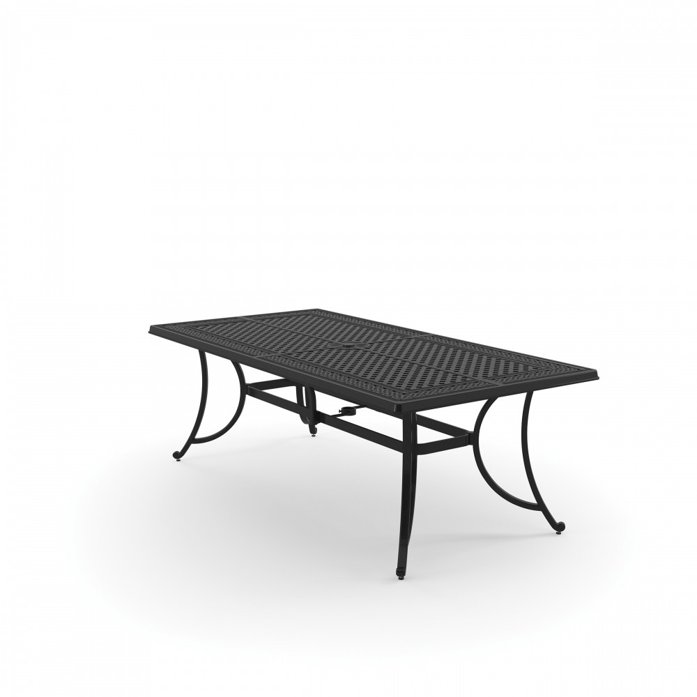 Burnella Brown Rectangular Dining Table P Outdoor - Black rectangular outdoor dining table
