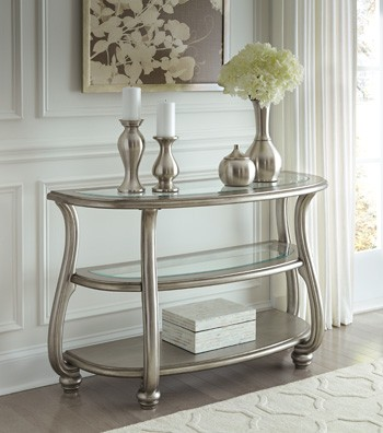 Coralayne - Silver Finish - Sofa Table