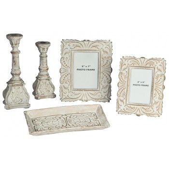 Dilys - Antique White - Accessory Set (5/CN)
