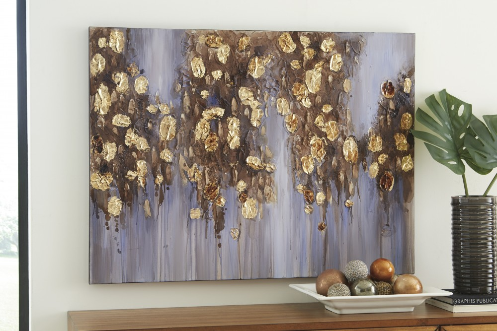 Donier - Blue/Gold Finish - Wall Art : blue and gold wall art - www.pureclipart.com