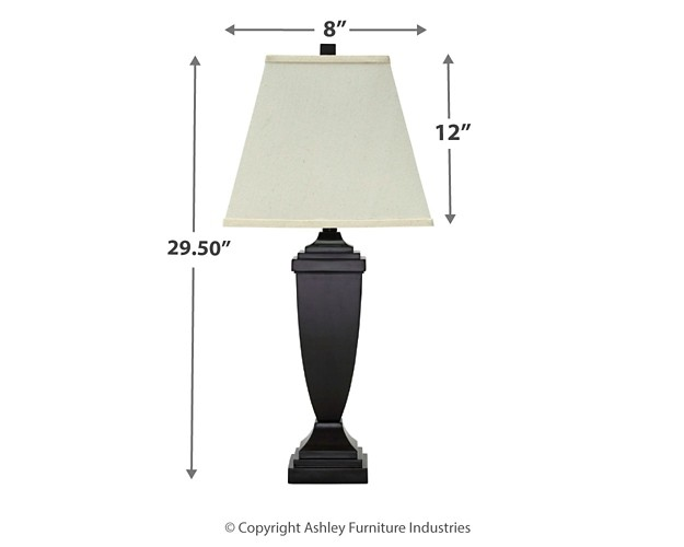 Amerigin Bronze Finish Poly Table Lamp 2 Cn L243154 Lamps