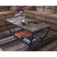 Antigo - Black - Rectangular Cocktail Table