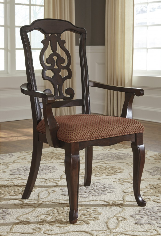 Gladdenville - Brown - Dining UPH Arm Chair (2/CN) & Gladdenville - Brown - Dining UPH Arm Chair (2/CN) | D578-01A | Arm ...